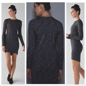 Lululemon &go Where To Long Sleeve Fitted Dress 6